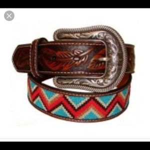 ISO - ariat beaded feather embossed western belt
